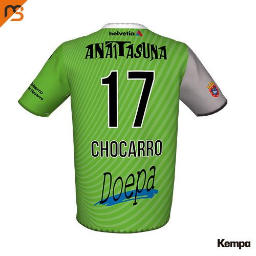 Camiseta oficial Segunda, temporada Anterior 2018-2019, Asobal, ANAITASUNA